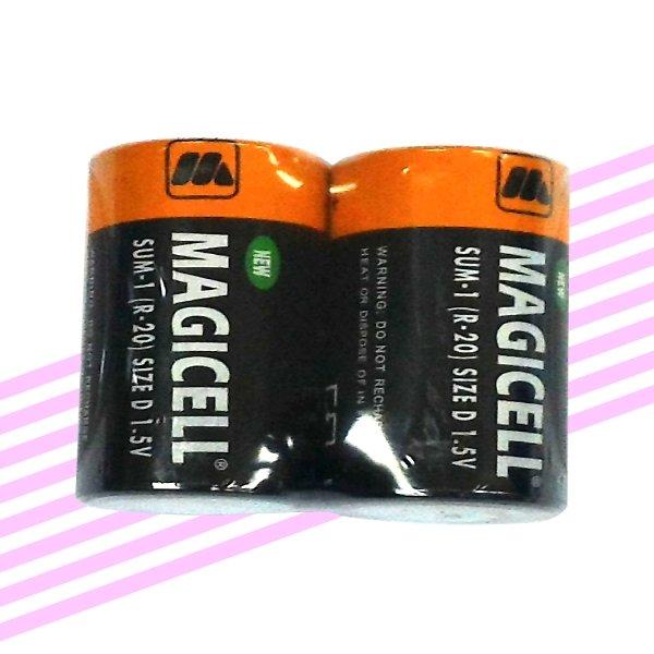 <br/><br/>  菊膠1號電池(2入) MAGICELL 1號電池 碳鋅電池1號 【GU220】◎123便利屋◎<br/><br/>