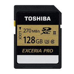 [富廉網] 【Toshiba】EXCERIA PRO 128GB SDXC UHS-II U3 R270 記憶卡 THN-N501G1280A6