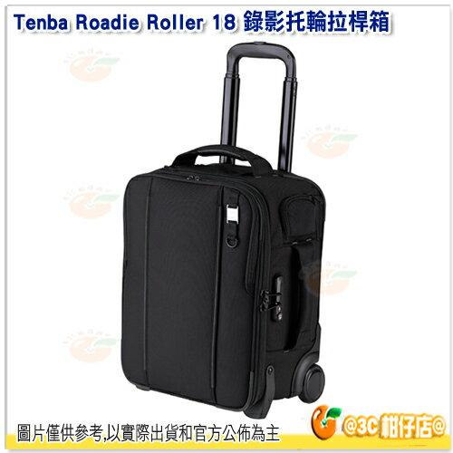 TenbaRoadieRoller18錄影托輪拉桿箱黑638-711公司貨15吋平板iPad行李箱拉桿箱滾輪