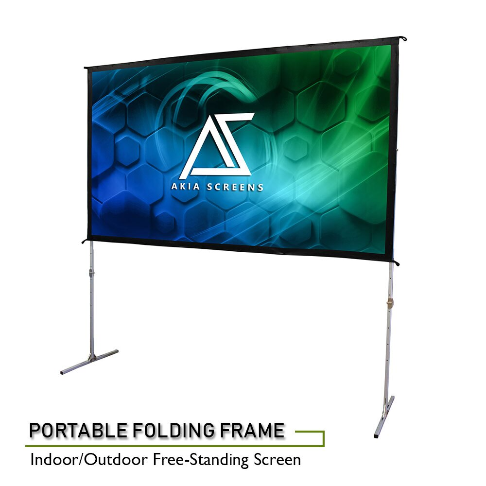 Basics Outdoor Projector Screen with Stand 16:9 120