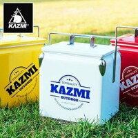 露營冰桶推薦到【【蘋果戶外】】KAZMI K6T3A013R 酷樂彩色小冰箱13L 白色 保冰桶 冰箱 行動冰箱 手提式冰桶就在蘋果戶外用品專賣店推薦露營冰桶