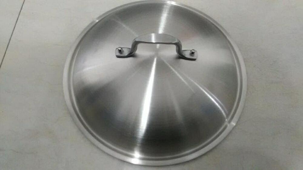 免運 不銹鋼大鋼蓋炒鍋蓋無磁加厚適用于30cm炒鍋