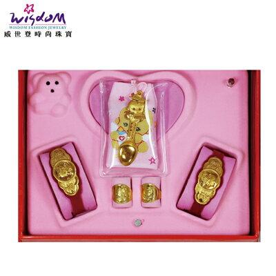 彌月黃金禮盒 1錢 算盤博士湯匙禮盒 送禮推薦款