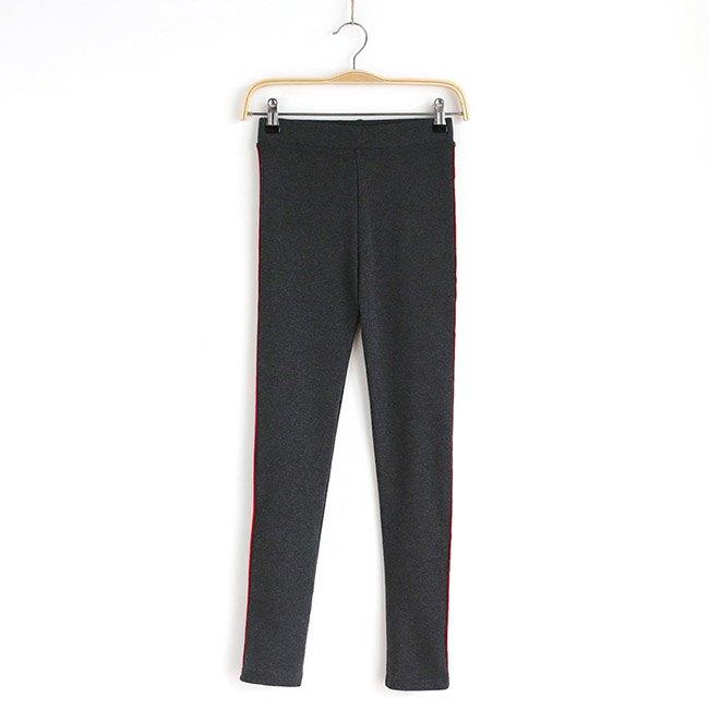 長褲 素色 側邊 彩色條紋 運動 小腳褲 貼身 內搭 長褲【MZEJ17024】 BOBI  09 / 05 8