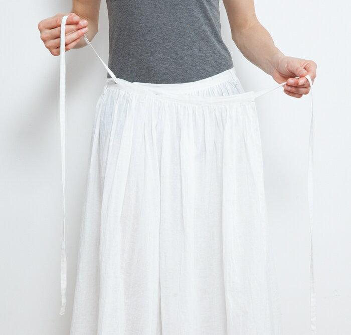 【Bali】亞麻布簡約長裙 瑜珈褲 6