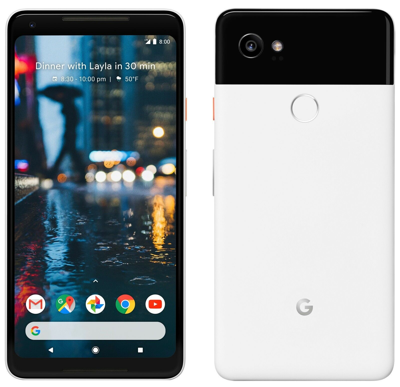 "Google Pixel 2 XL 6"" 128GB 4G LTE Unlocked GSM Android Smartphone"
