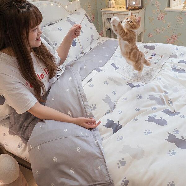 涼感天絲薄床包+兩用被雙人加大賣場100%天絲(40支)安娜居家床包寢具兩用被