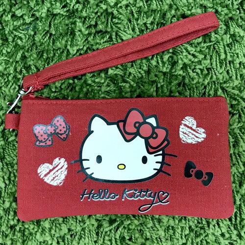 【真愛日本】17070500005 觸控手機包-紅 三麗鷗 kitty 凱蒂貓 手機袋 收納袋 3C周邊 正品