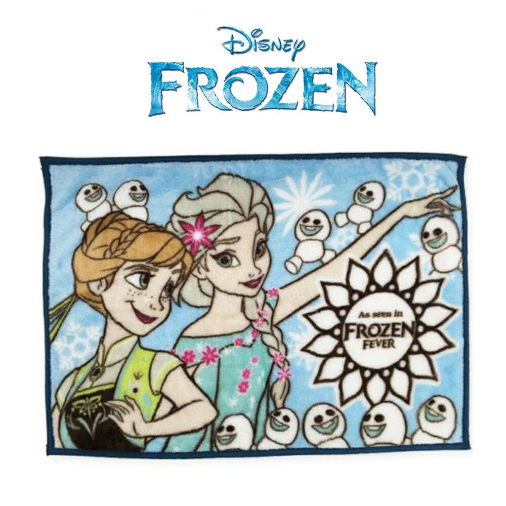 日本進口 Frozen 冰雪奇緣披肩保暖毛毯 /冷氣毯/地毯 輕薄保暖 觸感柔順