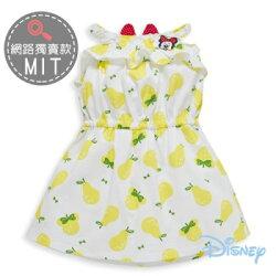 Disney 夏日米妮細帶荷葉棉洋裝