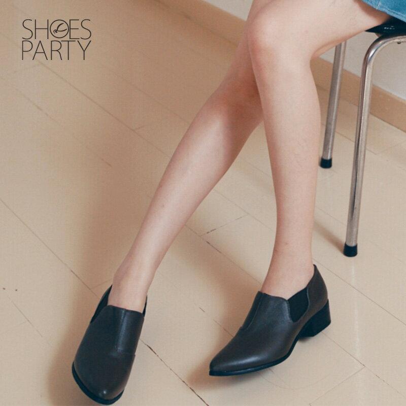 【B2-18209L】尖頭側鬆緊鞋_Shoes Party 1
