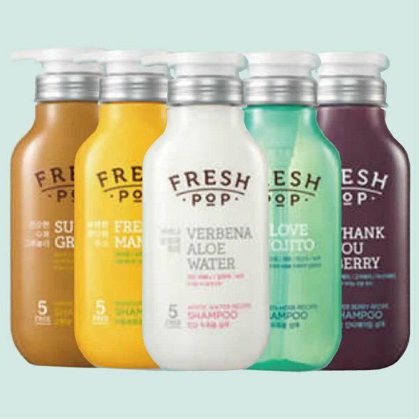 韓國FRESHPOP果汁洗髮精&潤髮乳500ml多款可選【櫻桃飾品】【23494】