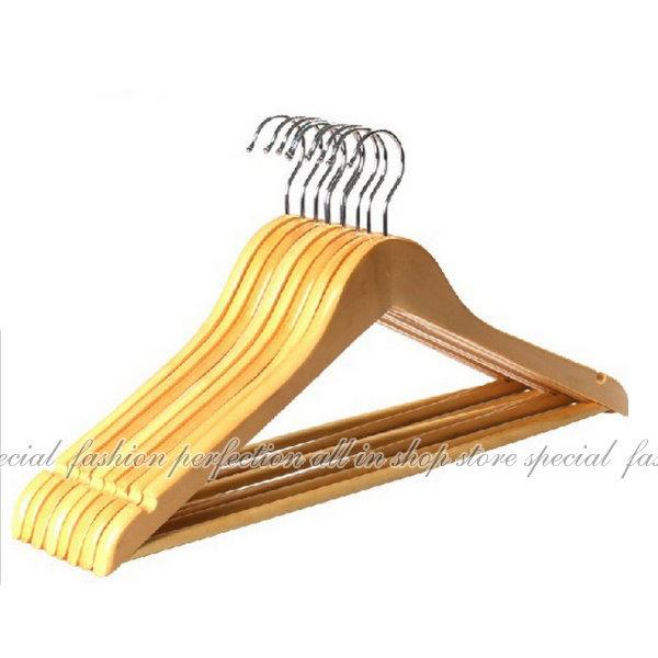 實木衣架 優質木衣架44.5CM 飯店專用衣架 西裝收納衣架 服裝店專用衣架【DZ160】◎123便利屋◎