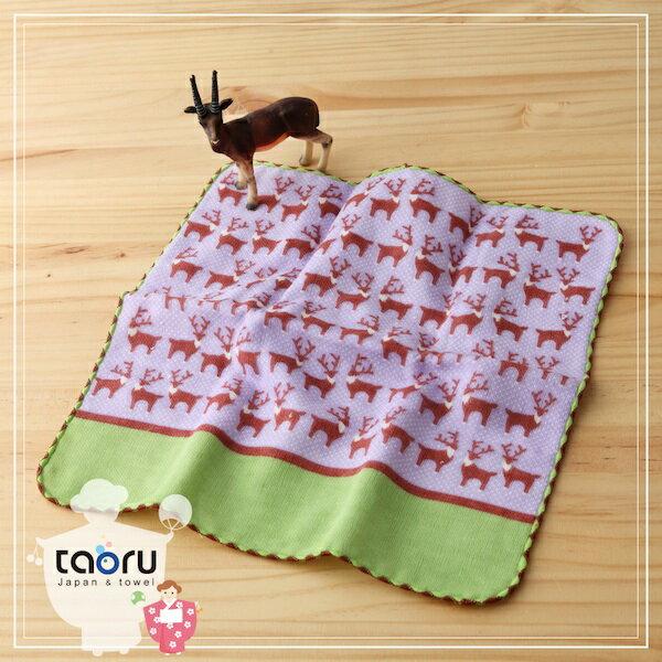 taoru:日本毛巾:町娘物語_麋鹿25*25cm(手巾假日動物園--taoru日本毛巾)
