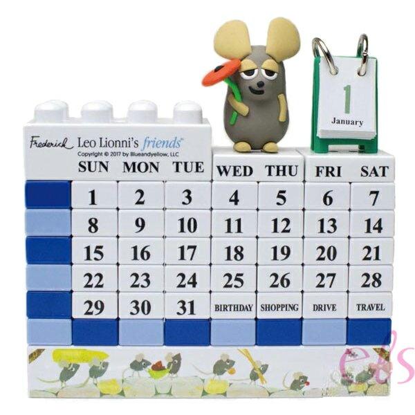 日本正版 童話繪本 田鼠阿佛 Leo Lionni's Friends 萬年曆 立體月曆 ☆艾莉莎ELS☆