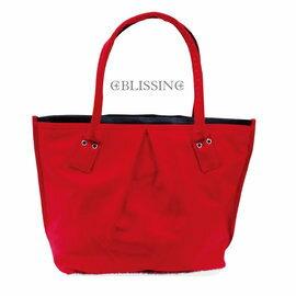 鉑麗星 時尚手提水餃包/托特包富貴紅款 (1入) 手提包 手提袋 單肩包 肩背包 購物袋 收納袋 聖誕過年喜氣洋洋 交換禮物