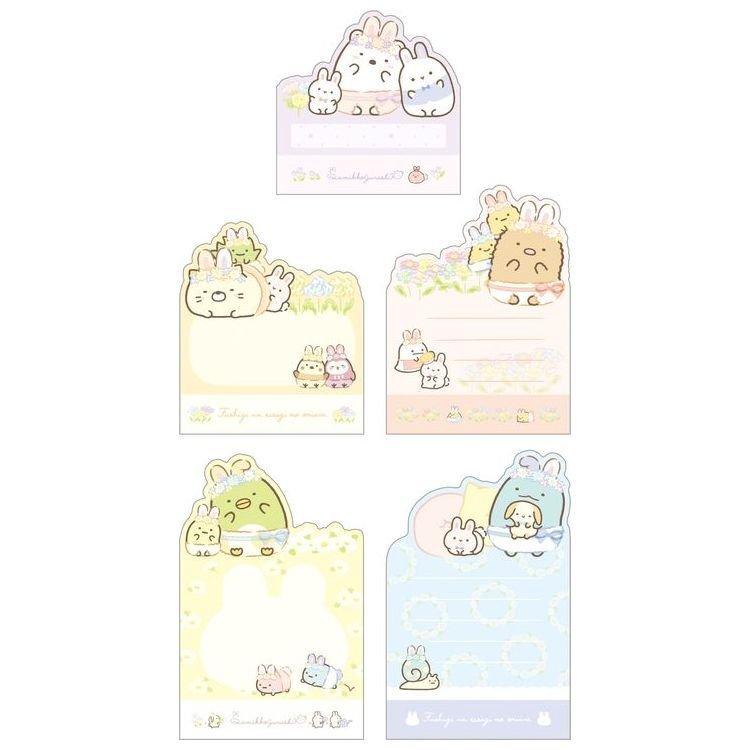 日本製 造型付簽便利貼 角落生物 角落小夥伴  仿兔 花圈 備忘錄 記事 便利貼 便條紙 自黏便籤 文具 真愛日本