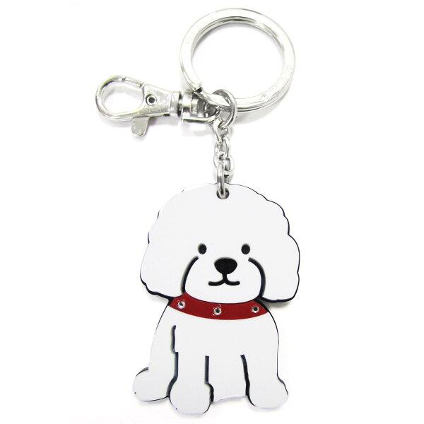 加拿大foufoudog鑰匙圈-比熊犬Bichon