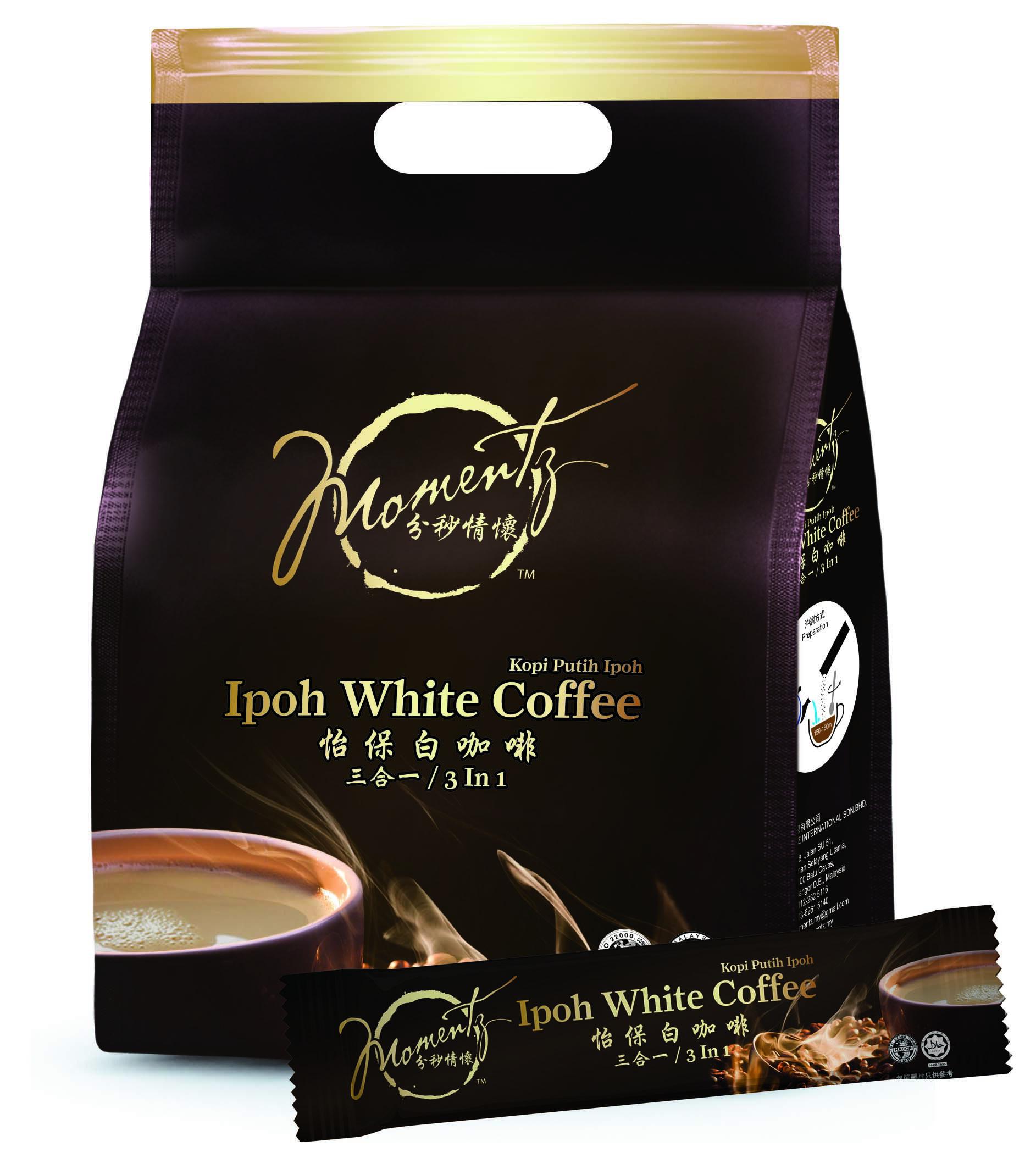 【分秒情懷】怡保白咖啡含糖三合一(25gX12包/袋)