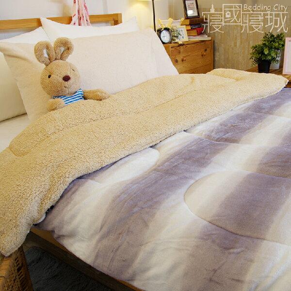 法蘭羊羔絨暖暖被毯-紫醉迷情【華麗豹紋、極暖、可當棉被使用 】#內充棉 #寢國寢城 3