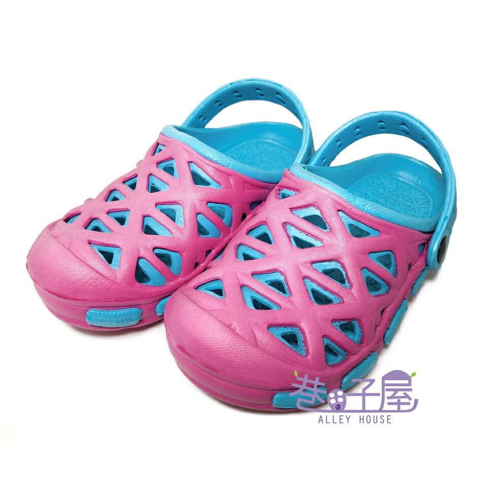 【巷子屋】童款輕量防水布希鞋 涼拖鞋 [2169] 粉 超值價$100
