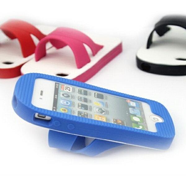 BO雜貨【SV9631】復古藍白拖鞋紅白拖鞋手機殼保護殼手機套iPhone44s5三星S3S4HTC