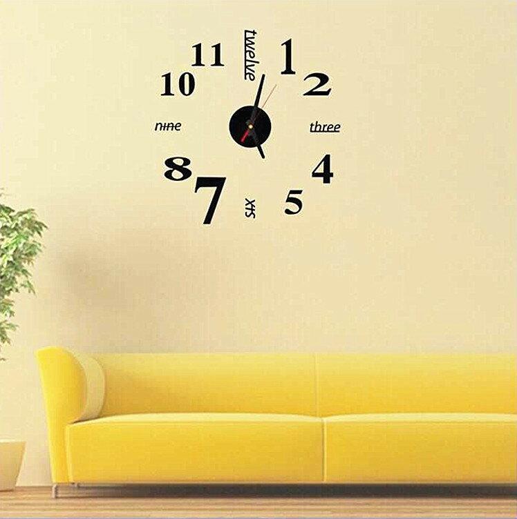壁貼時鐘 數字掛鐘 藝術趣味DIY壁鐘 造型時鐘 時尚藝術時鐘