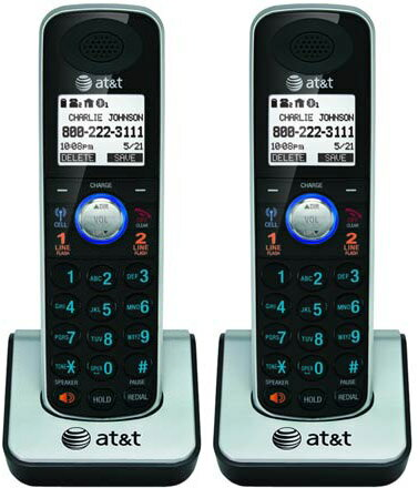 AT&T TL86009 Handset / Charger 2 Line 2 Pack Adjustable Ringer Volume Control 0
