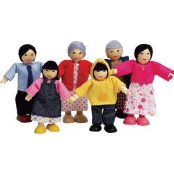 德國 Hape愛傑卡 快樂家庭組-亞洲人/現代亞洲家庭/娃娃屋系列