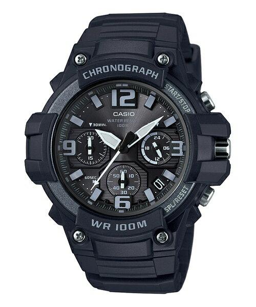 CASIO G-SHOCK MCW-100H-1A3 黑銀大表面指針腕錶/黑49mm