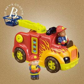 美國B.Toys感統玩具-喵嗚救火車/消防車玩具【紫貝殼】