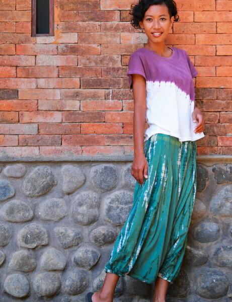 【Bali】100%有機棉IkatT恤 瑜珈服 4