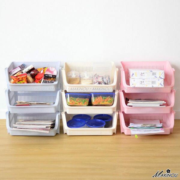 MAKINOU 收納籃|歡樂 收納籃~ 製| 牧野 收納箱收納盒置物籃編織籃瀝水籃 MAK