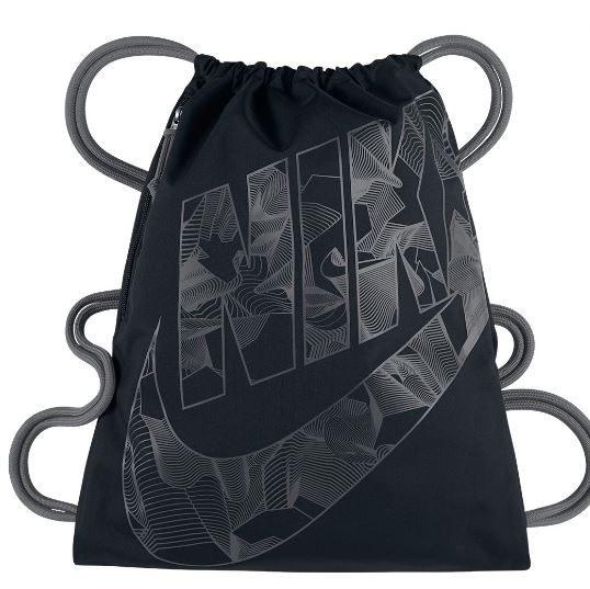 Nike Heritage Gymsack  背包 束口袋 鞋袋 健身 圖騰 大LOGO 黑 【運動世界】BA5351-010