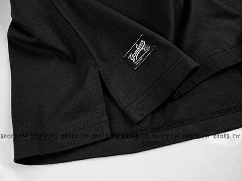 Shoestw【5830238-900】MLB 美國大聯盟 MAJESTIC 短袖 T恤 棉質 寬鬆版 紐約 洋基隊 口袋 黑色 2
