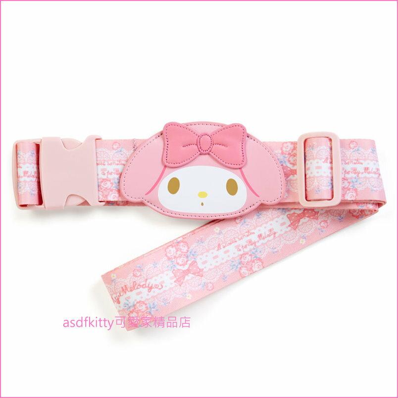 asdfkitty可愛家☆美樂蒂造型粉紅色行李箱綁帶/束帶/行李帶-日本正版商品
