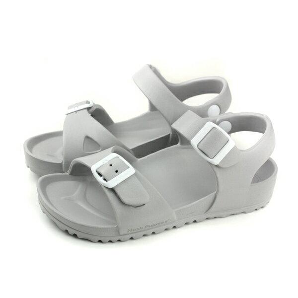 【買鞋贈送收納袋】【數量有限送完為止】HushPuppies涼鞋勃肯鞋灰色男鞋6182U180211no143