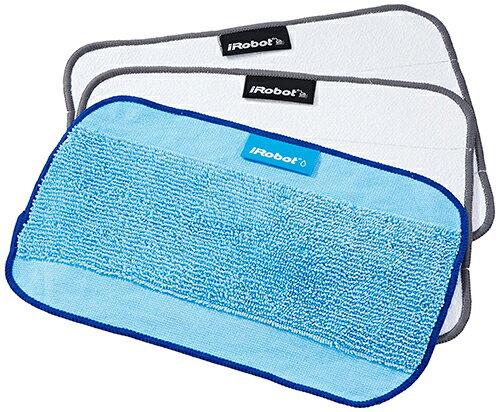 【美國代購】iRobot 原廠 3片裝Braava 380t 375t 320 Mint 5200 專用可洗式清潔墊( 濕式X1/乾式X2)
