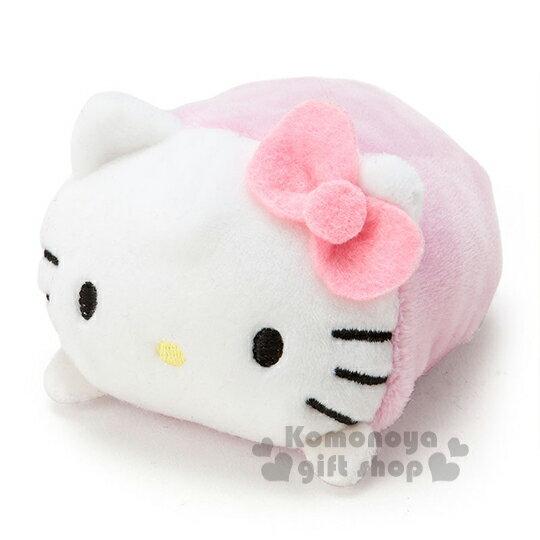 〔小禮堂〕Hello Kitty 造型絨毛沙包娃娃《S.粉.趴姿》多個可堆疊