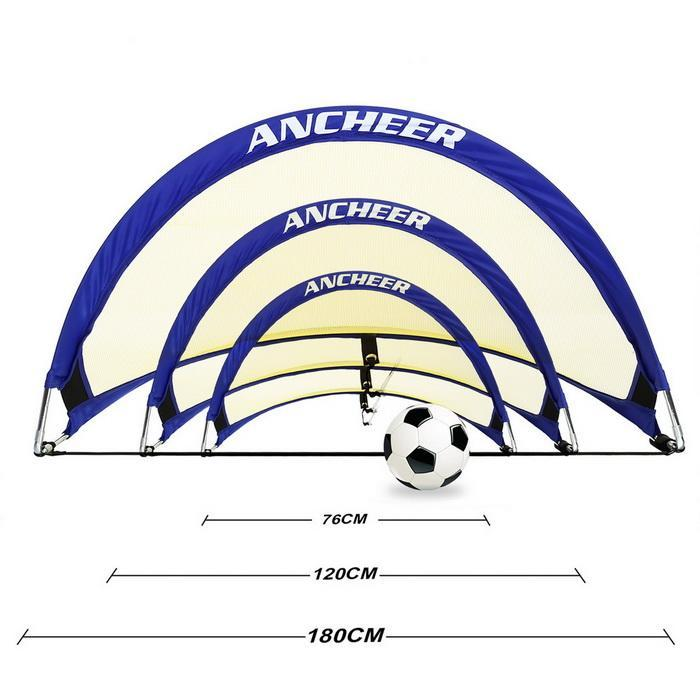 1 Pair Pop-up Soccer Net Portable Soccer Goals Football Training with Carry Bag 0