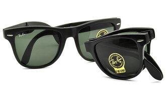 Outlet 美國100%正品代購 經典 Ray Ban 雷朋 復古 墨鏡 太陽眼鏡 RB4105 折疊 黑色