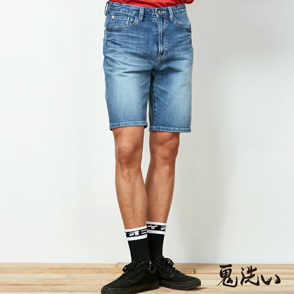 【春夏新品】潮流鬼洗-後袋提織滿版耐磨短褲 - BLUE WAY  ONIARAI鬼洗 0