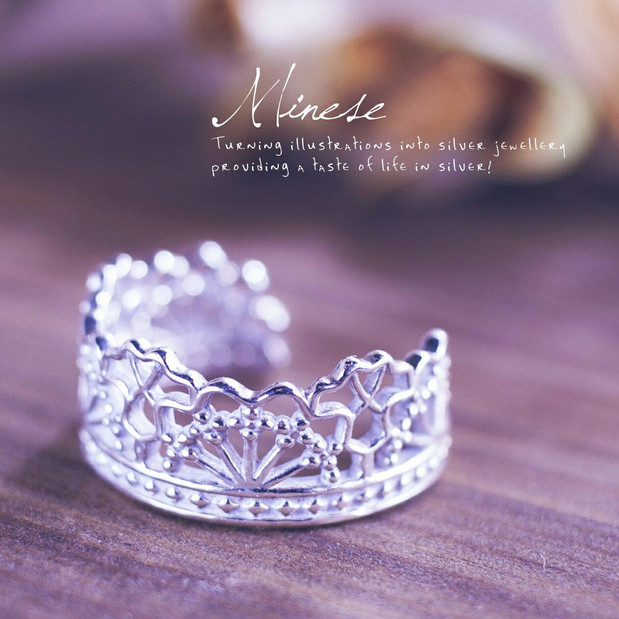 蕾絲戒指2號 V006, 925純銀、項鍊戒指手鍊飾品銀飾手作珠寶MIT設計師品牌~手工製作