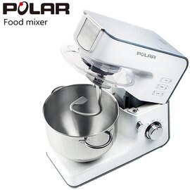 ◤贈晶工9L烤箱◢POLAR普樂多功能抬頭式攪拌機PL-2080◤一機多用-具有攪拌、混合、揉捏麵糰◢