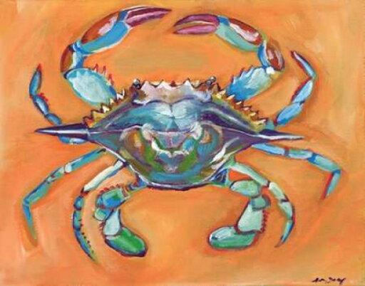 Sagebrush Fine Art PDXAE1001LARGE Blue Crab Poster Print by Anne Seay, 24 x 30 - Large 3e83f6a9d5e9a2af99314fdb15434512