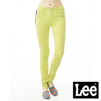 【單一價↘899】Lee 牛仔褲 419 低腰貼身窄管-女款(螢光黃)