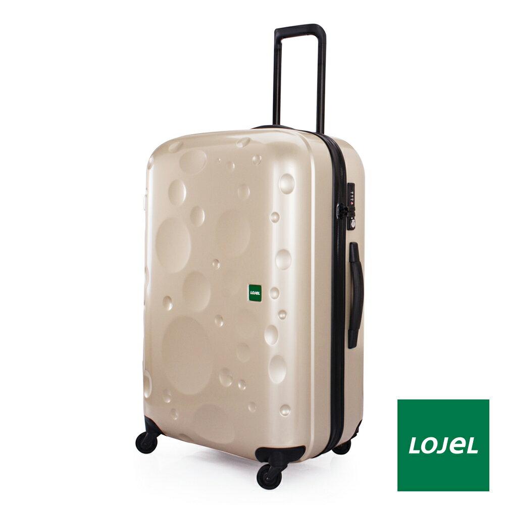 【日本 LOJEL】LUNA輕量 30吋 PC 香檳色 拉鍊拉桿(360度靜音輪 行李箱 / 旅行箱)