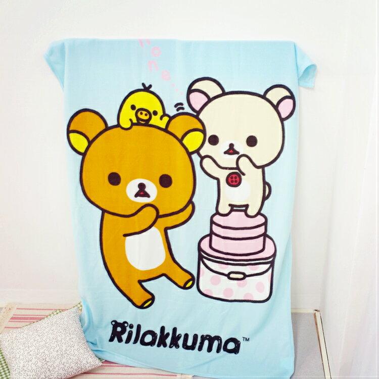 PGS7 日本拉拉熊系列商品 - 拉拉熊 Rilakkuma 刷毛毯 (大) 毛毯 毯子 懶懶熊 小被子【SFB7276】