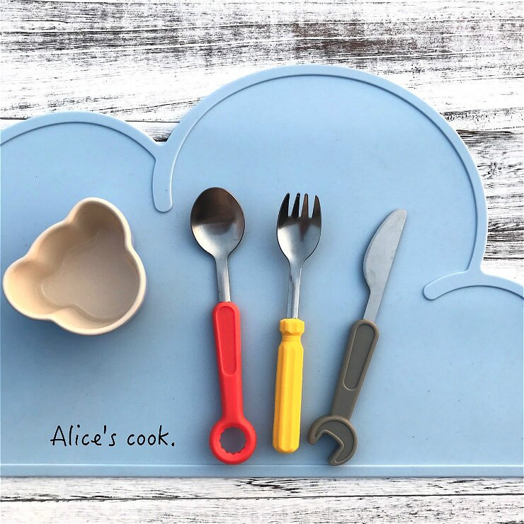 童趣 板 具餐具3件組 兒童餐具 外出環保餐具 寶寶