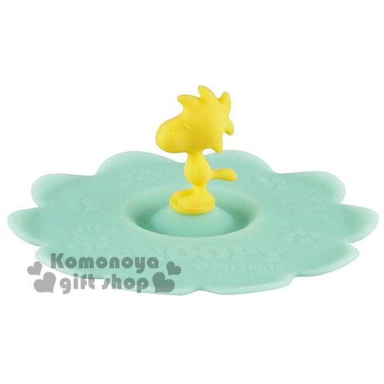 〔小禮堂〕史努比 糊塗塔克 造型矽膠杯蓋《黃綠.站姿》可愛又實用